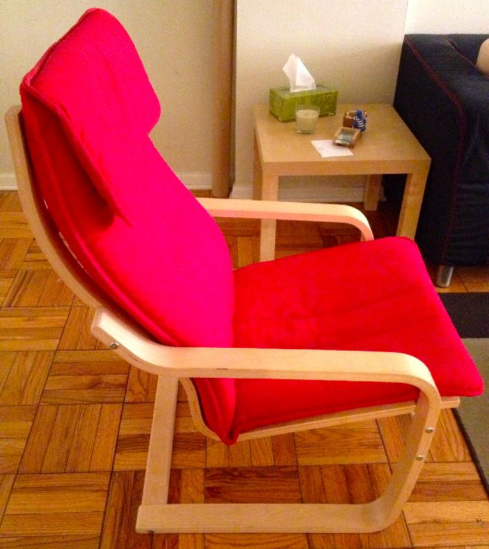 Ikea poang red arm chair for 50 george washington university dormfair - Red poang chair ...